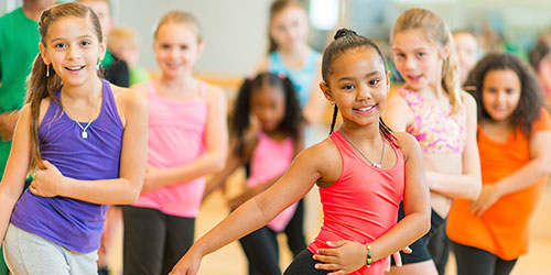 Girls in YMCA dance program