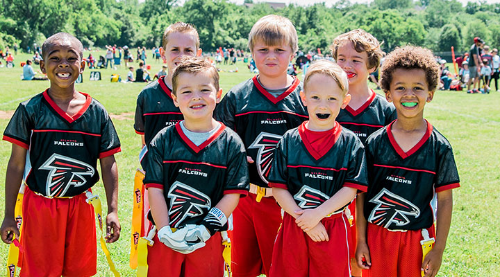 Falcons YMCA flag football team