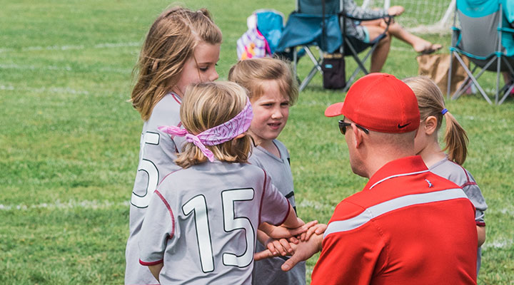 YMCA coach encourages team