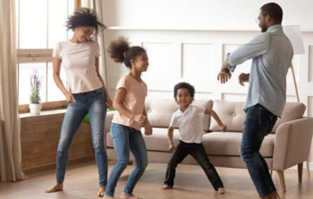 Family dance party